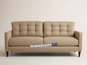 Hình ảnh Ghế sofa đơn nhỏ xinh 2 chỗ thiết kế rút khuy hiện đại và sang trọng cho phòng khách nhỏ xinh