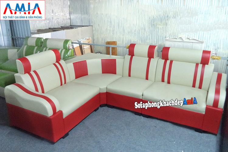 Hình ảnh Mẫu ghế sofa góc kích thước nhỏ giá rẻ tại AmiA