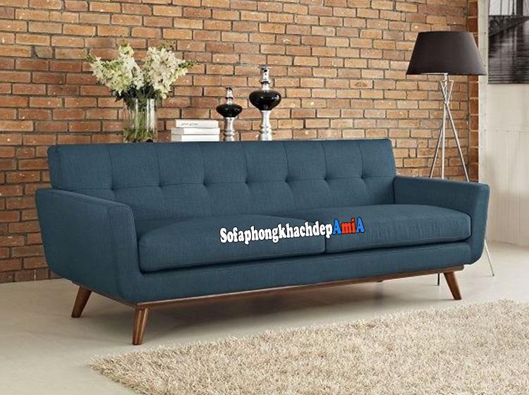 Hình ảnh ghế sofa nhỏ đẹp dạng văng nỉ là một trong những mẫu sofa bán chạy tại AmiA