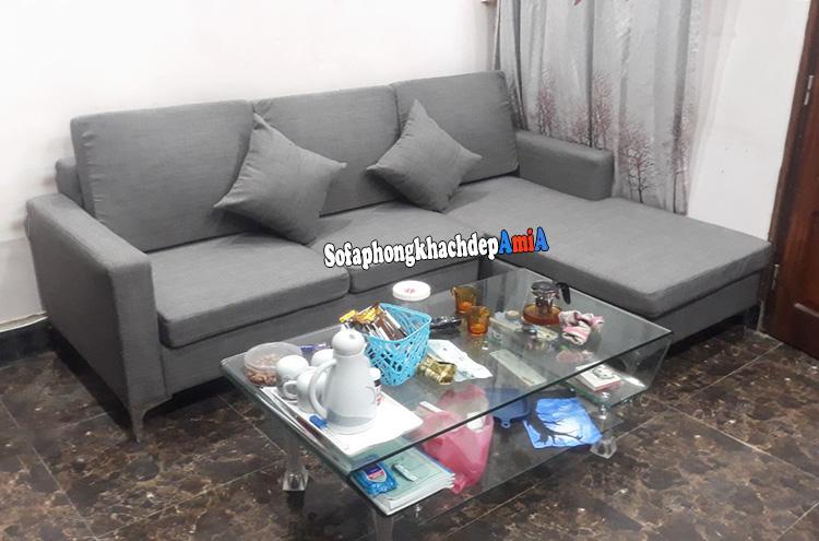 Hình ảnh Sofa góc nhỏ đẹp phòng khách nhỏ thiết kế dạng chữ L