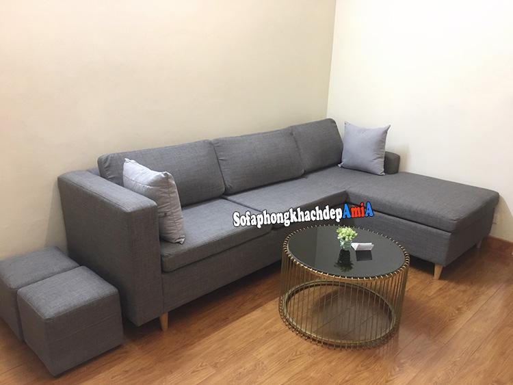 Hình ảnh Sofa góc phòng khách nhỏ kê góc căn phòng giúp tiết kiệm diện tích tối đa