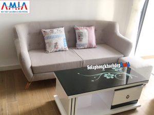 Hình ảnh Sofa nhỏ mini giá rẻ Hà Nội dạng văng đẹp chất liệu da hiện đại