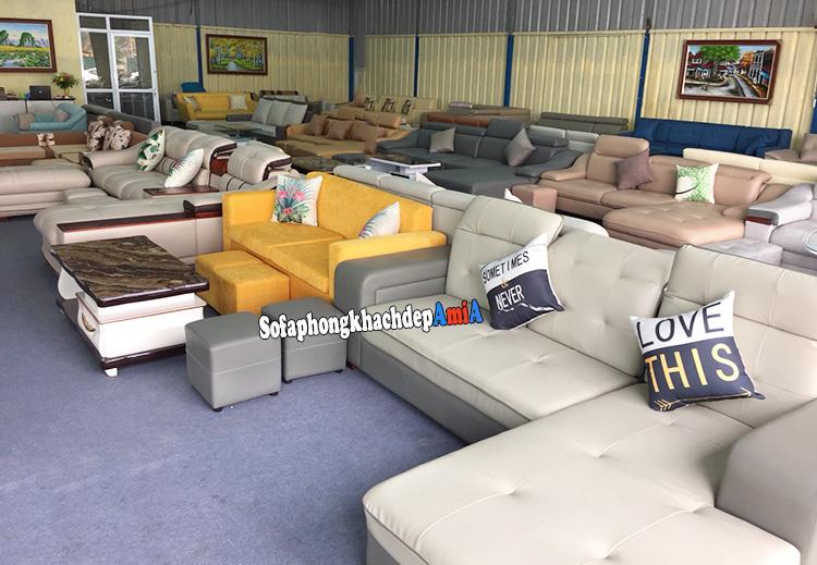 Hình ảnh Địa chỉ mua sofa nhỏ xinh tại Hà Nội quy mô hàng trăm m2