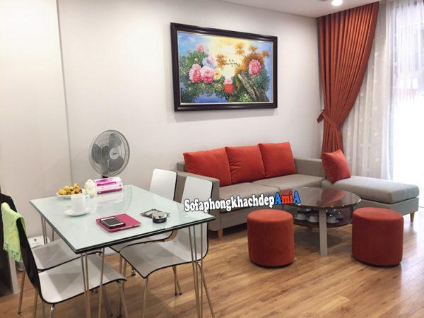 Hình ảnh bộ bàn ghế cho phòng khách nhỏ hẹp nhà chung cư hiện đại