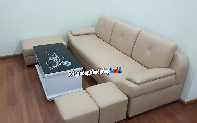 Hình ảnh Bàn ghế sofa phòng khách nhỏ giá rẻ tphcm
