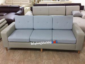 Hình ảnh Ghế sofa văng da nhỏ đệm nỉ thiết kế 3 chỗ cho nhà nhỏ, phòng khách nhỏ