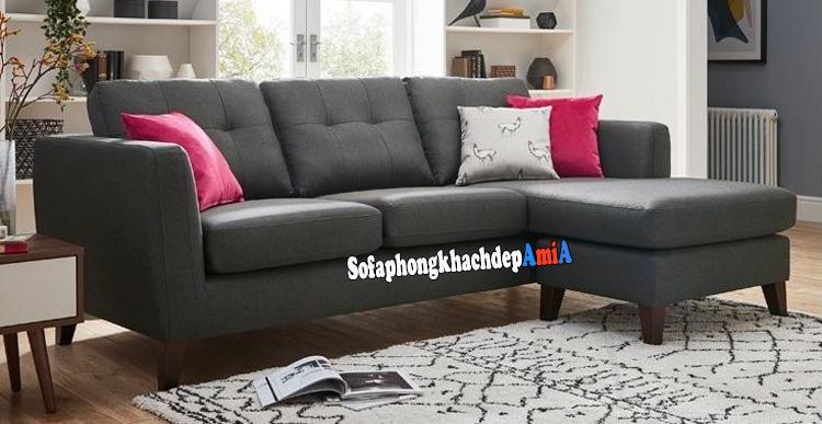 Hình ảnh Mẫu sofa phòng khách nhỏ giá rẻ thiết kế dạng sofa nỉ chữ L