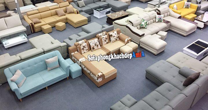 Hình ảnh sofa chung cư Thanh Hà Hà Đông nhiều mẫu mã kiểu dáng đẹp, giá rẻ