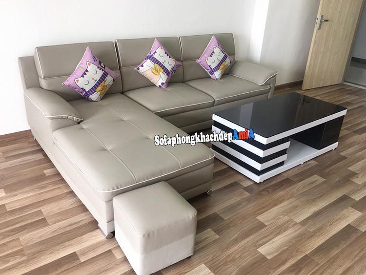 Hình ảnh sofa khu đô thị Thanh Hà cho phòng khách chung cư hiện đại