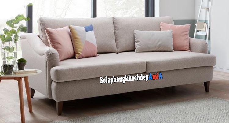 Hình ảnh Sofa đẹp phòng khách nhỏ giá rẻ kèm gối ôm xinh xắn