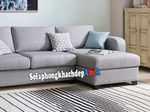 Hình ảnh Sofa góc cho phòng khách nhỏ hẹp hiện đại và sang trọng