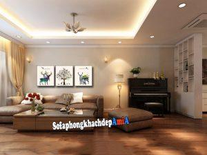 Hình ảnh Sofa phòng khách đẹp biệt thự có diện tích rộng lớn