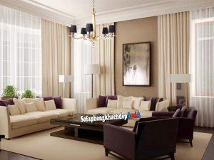 Hình ảnh Sofa phòng khách nhà biệt thự sang trọng và hiện đại