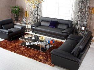Hình ảnh Sofa sang trọng cho phòng khách biệt thự thiết kế kiểu ghế văng kết hợp ghế sofa đơn