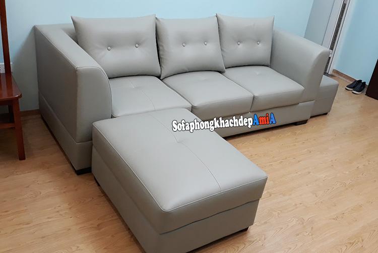 Hình ảnh Sofa văng kèm đôn lớn cho phòng khách nhỏ hẹp