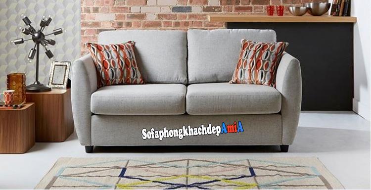 Hình ảnh Sofa văng nỉ 2 chỗ kê phòng khách nhỏ hẹp rất gọn gàng