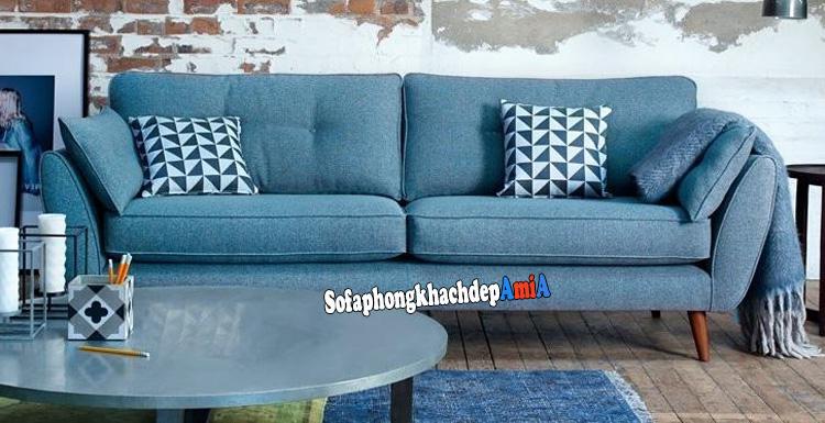 Hình ảnh Ghế sofa cho phòng khách nhỏ tphcm thiết kế dạng sofa văng nỉ 2 chỗ