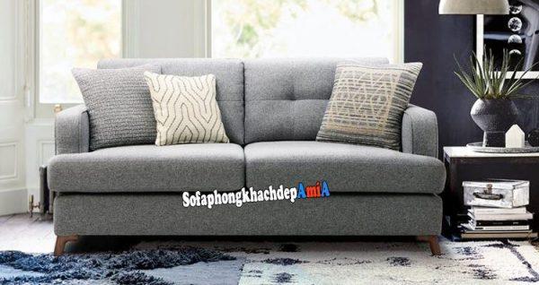 Hình ảnh Ghế sofa phòng khách nhỏ hẹp tphcm dạng văng nỉ 2 chỗ
