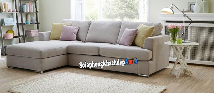 Hình ảnh Sofa góc chữ K cho phòng khách nhỏ tphcm tiết kiệm diện tích căn phòng