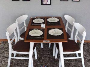 Hình ảnh bàn ăn 4 ghế gỗ sồi Mango giá rẻ cho mọi nhà