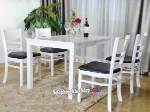 Hình ảnh Bộ bàn ăn 4 ghế cabin giá rẻ cho phòng ăn nhỏ xinh