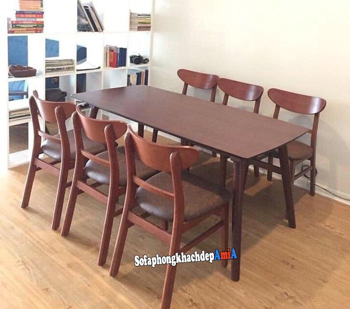 Hình ảnh Bộ bàn ăn 6 ghế hiện đại và sang trọng cho nhà xinh