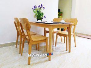 Hình ảnh Bộ bàn ghế ăn cơm giá rẻ gia đình 4 người hiện đại