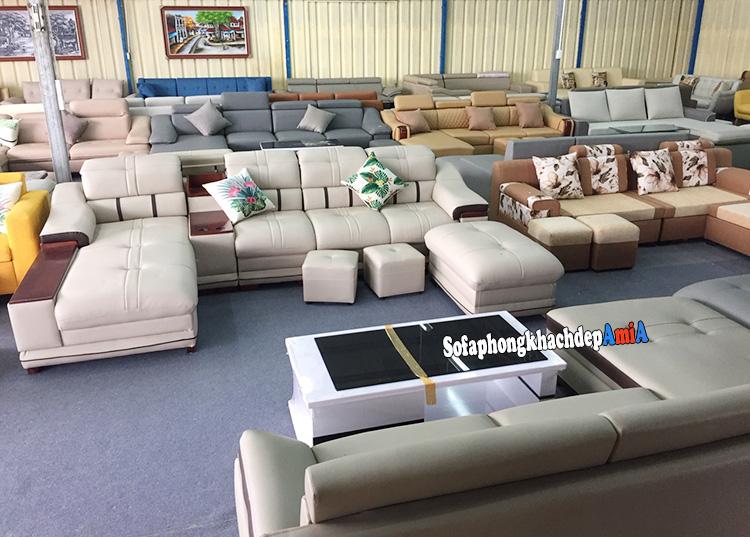 Hình ảnh Các mẫu sofa da nhập khẩu cho phòng khách đẹp sang trọng