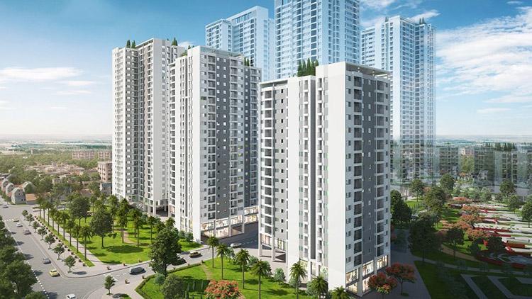 Hình ảnh dự án chung cư Hồng Hà Eco Thanh Trì có nhiều tòa nhà cao tầng đang có nhu cầu mua sofa phòng khách
