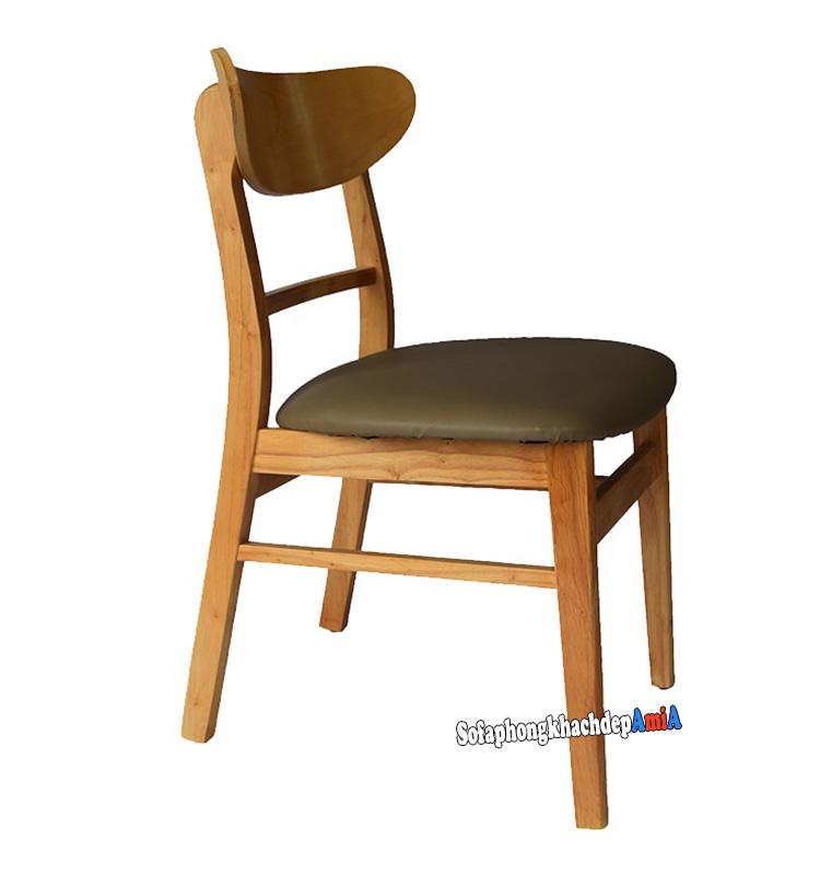 Hình ảnh Ghế gỗ bàn ăn đẹp hiện đại thiết kế đơn giản