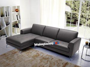 Hình ảnh Bộ ghế sofa da góc L phòng khách đẹp Hà Nội AmiA SFD215