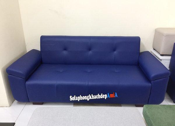 Hình ảnh Ghế sofa da kích thước nhỏ phòng khách thiết kế dạng ghế sofa văng