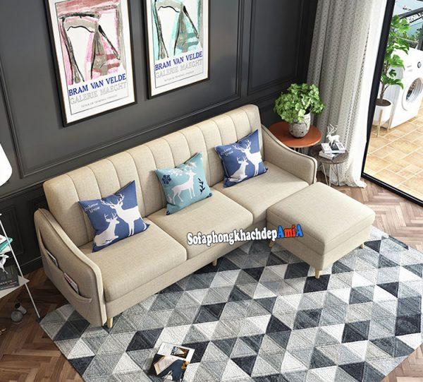 Hình ảnh Ghế sofa nỉ phòng khách nhỏ thiết kế dạng ghế sofa văng nỉ đẹp