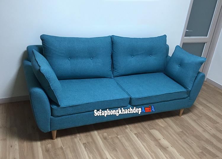 Hình ảnh Ghế sofa văng đẹp cho phòng khách Linh Đàm có diện tích nhỏ xinh