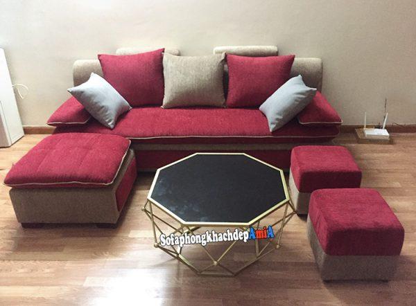 Hình ảnh ghế sofa văng nỉ giá rẻ đẹp cho phòng khách nhỏ, nhà nhỏ