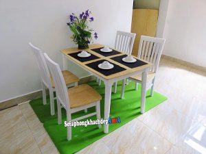 Hình ảnh Mẫu bàn ghế ăn đẹp 4 chỗ giá rẻ cho phòng ăn hiện đại