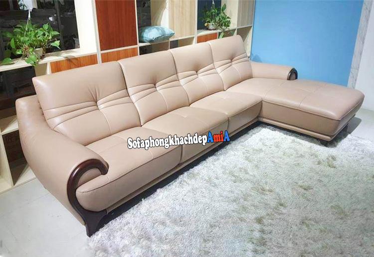 Hình ảnh Mẫu sofa da nhập khẩu Hàn Quốc hiện đại và sang trọng