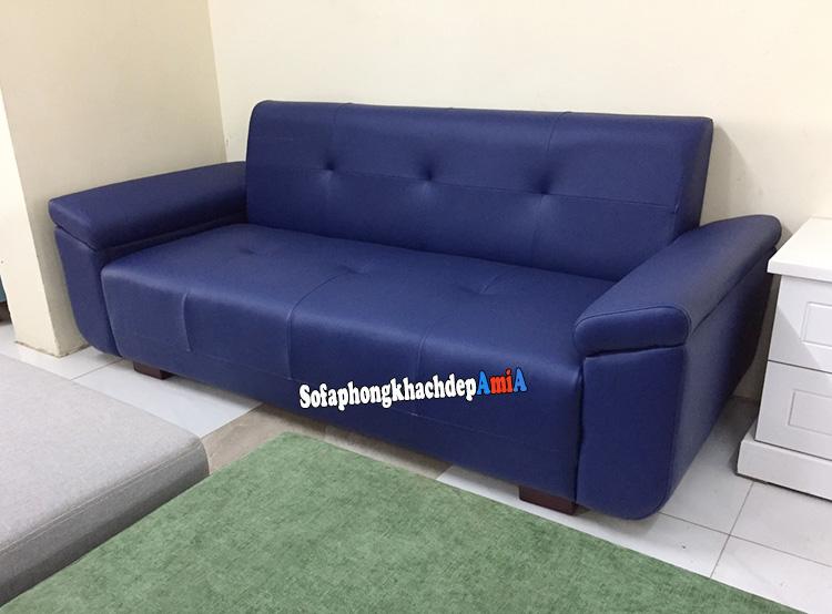 Hình ảnh Sofa da nhỏ phòng khách đẹp dạng ghế sofa văng hiện đại và sang trọng
