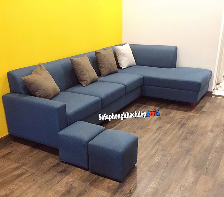 Hình ảnh Sofa góc nỉ đẹp phòng khách hiện đại AmiA SFN218