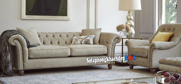 Hình ảnh Sofa nỉ đẹp giá rẻ phòng khách thiết kế hiện đại, sang trọng và thời thượng