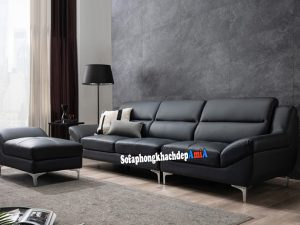 Hình ảnh Sofa văng phòng khách đẹp rẻ bài trí sát tường tiết kiệm diện tích căn phòng