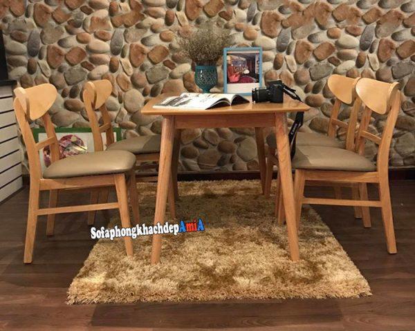 Hình ảnh Bàn ăn 4 ghế giá rẻ tại Nội thất AmiA cho phòng ăn nhỏ, gia đình ít người