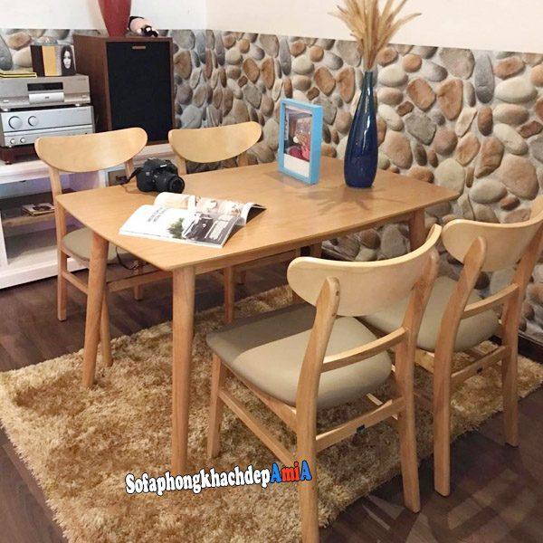 Hình ảnh Bộ bàn ăn BA023 cho gia đình 4 chỗ ngồi