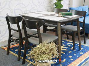 Hình ảnh Bộ bàn ăn 4 ghế giá rẻ Hà Nội cho gia đình ít người, ít thế hệ