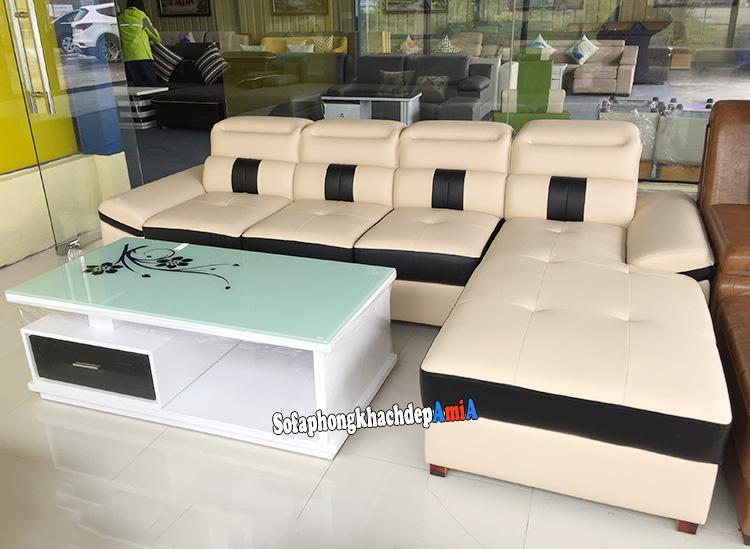 Hình ảnh Sofa da nhập khẩu đẹp cao cấp chụp tại kho sofa AMiA