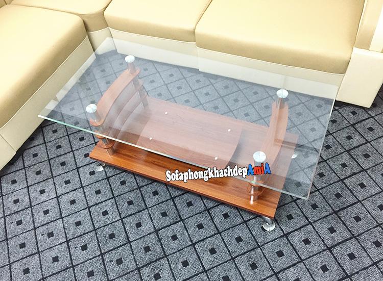 Hình ảnh Bàn kính giá rẻ Hà Nội giá rẻ bất ngờ cho bộ ghế sofa phòng khách giá rẻ