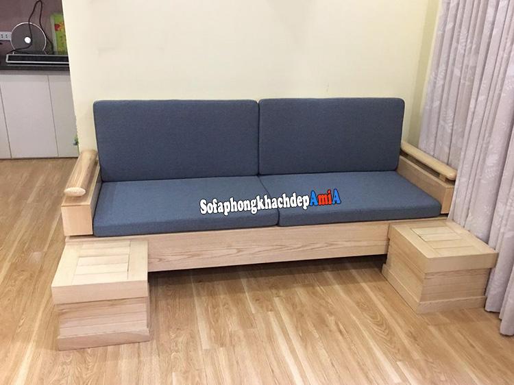 Hình ảnh Ghế gỗ sofa phòng khách hiện đại kiểu dáng ghế sofa văng gỗ