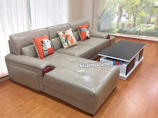 Hình ảnh Ghế sofa da cao cấp phòng khách đẹp hiện đại và sang trọng