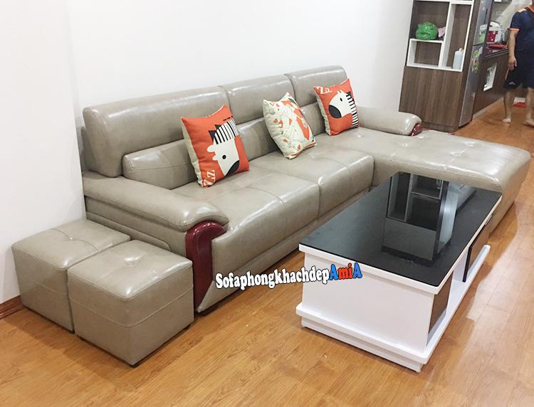 Hình ảnh Ghế sofa da Hàn Quốc nhập khẩu chất lượng tốt mà giá cả phải chăng
