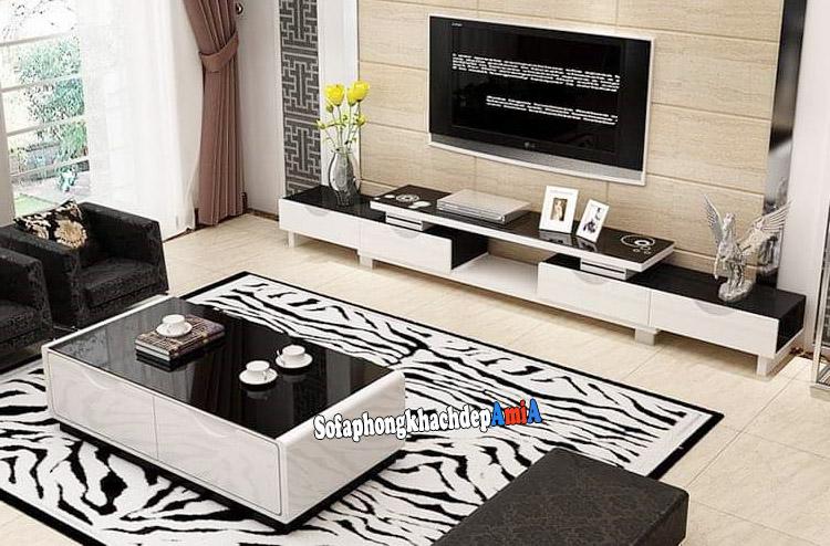 Hình ảnh Kệ gỗ tivi phòng khách đẹp giá rẻ Hà Nội